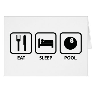 Cartão Coma a piscina do sono