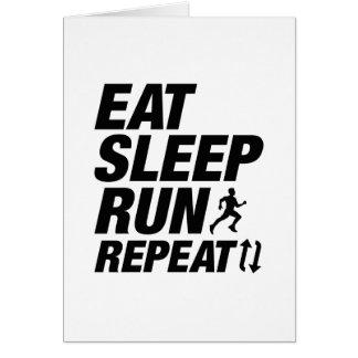 Cartão Coma a repetição do funcionamento do sono