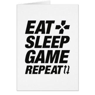 Cartão Coma a repetição do jogo do sono