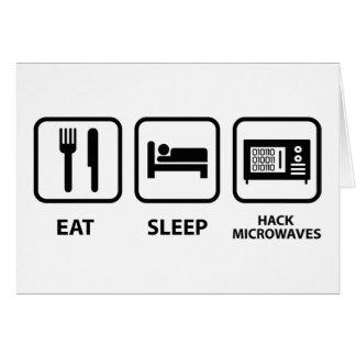 Cartão Coma microondas do corte do sono