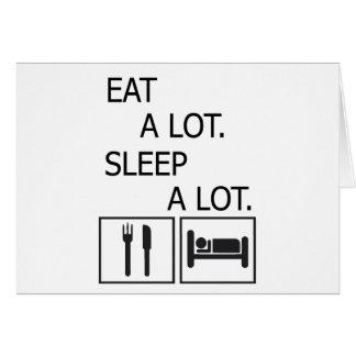 Cartão Coma muito o sono muito