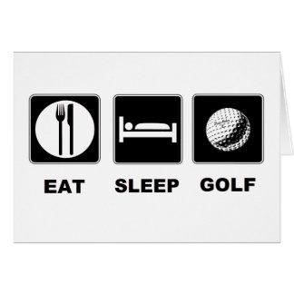 Cartão Coma o golfe do sono