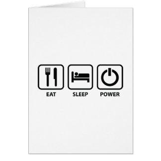 Cartão Coma o poder do sono