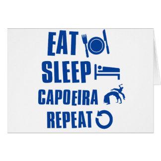 Cartão Coma o sono Capoeira