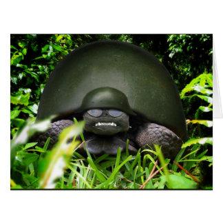 Cartão Comando lento - tartaruga do exército