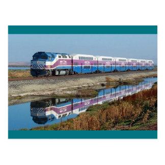 Cartão - comboio da periferia do ÁS, Califórnia