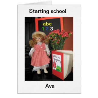 Cartão começando a escola