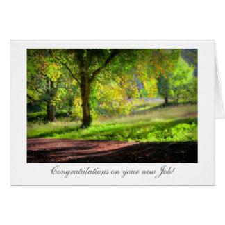 Cartão Começo do outono/queda - Congrats no trabalho novo