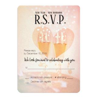 Cartão Começo novo do ano novo/ano novo de Wedding/RSVP
