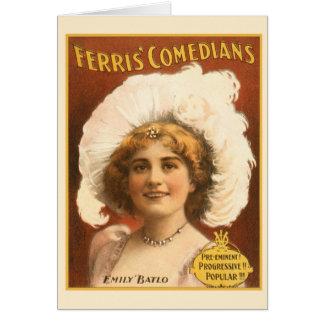 Cartão Comediantes de Ferris do poster das artes de palco