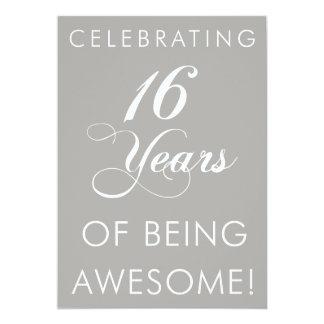 Cartão Comemorando 16 anos de ser impressionantes