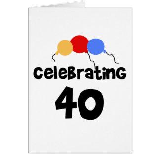 Cartão Comemorando 40