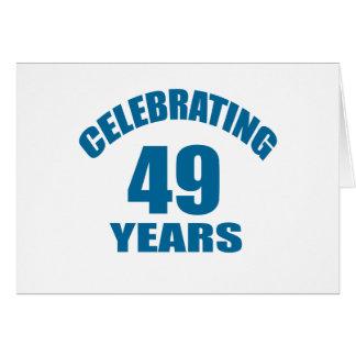 Cartão Comemorando 49 anos de design do aniversário