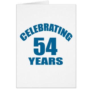 Cartão Comemorando 54 anos de design do aniversário