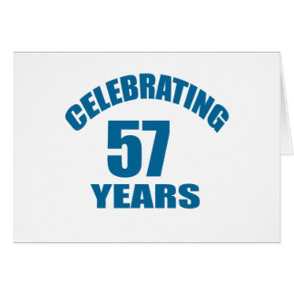 Cartão Comemorando 57 anos de design do aniversário