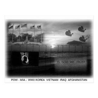 Cartão comemorativo de MIA do PRISIONEIRO DE