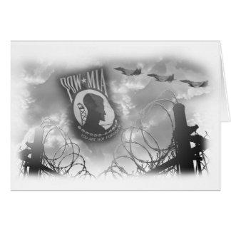 Cartão comemorativo de MIA do PRISIONEIRO DE GUERR