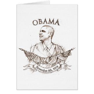 Cartão comemorativo de Obama