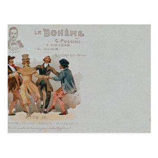 Cartão comemorativo La da ópera '