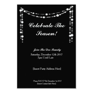 Cartão Comemore a estação! A festa de Natal convida
