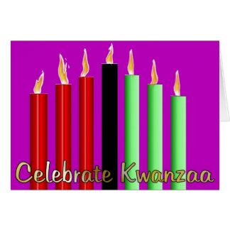 Cartão Comemore Kwanzaa