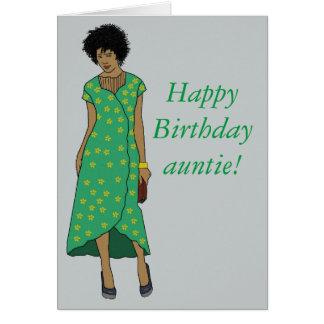 Cartão Comemore o auntie