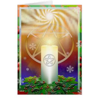 Cartão Comemore o calor do Yule Sun