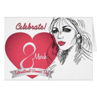Cartão Comemore - o dia da mulher internacional