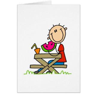 Cartão Comendo a melancia