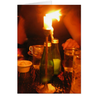 Cartão comensal da luz da vela