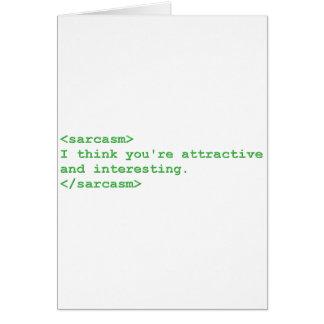 Cartão Comentário sarcástico verde do HTML