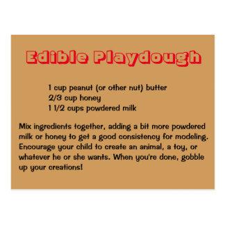Cartão comestível de Playdough