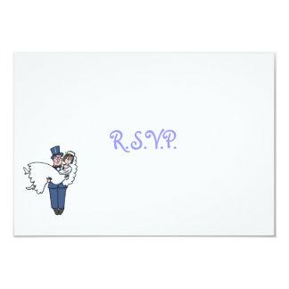 Cartão cómico bonito dos desenhos animados RSVP Convite 8.89 X 12.7cm