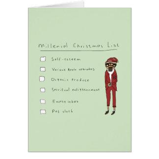 Cartão cómico engraçado da lista | do Natal de