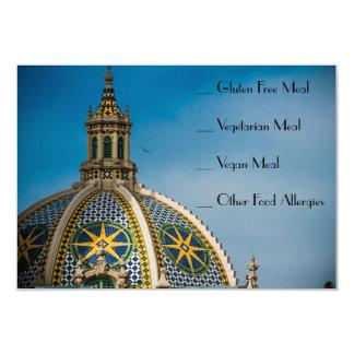 Cartão Comida AllergyCard do mosaico RSVP de San Diego do