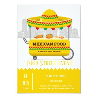 Cartão Comida do mexicano da rua da comida