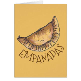 Cartão Comida espanhola latino-americano da pastelaria de