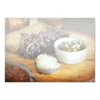 Cartão Comida - fruta - pepino e uvas