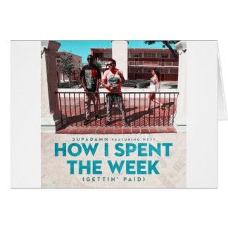 Cartão Como eu gastei o cobrir da semana (Getting pago)