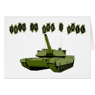 Cartão Como eu rolo o tanque