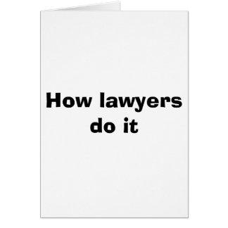 Cartão Como os advogados o fazem