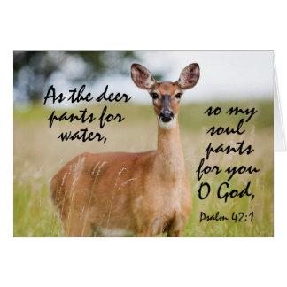 Cartão Como os cervos arfa para o costume do salmo 42 da