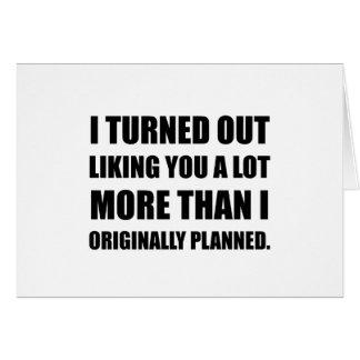 Cartão Como você de planeamento mais do que