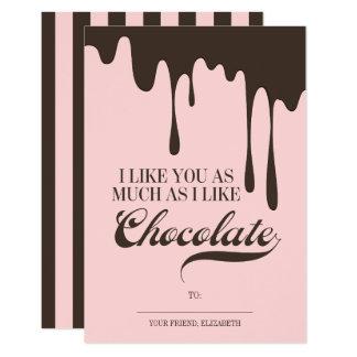 Cartão Como você e o chocolate caçoa namorados da sala de