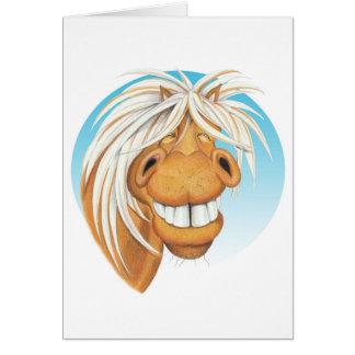 """Cartão Companheiro do cavalo de Equi-toons """"Chappie"""