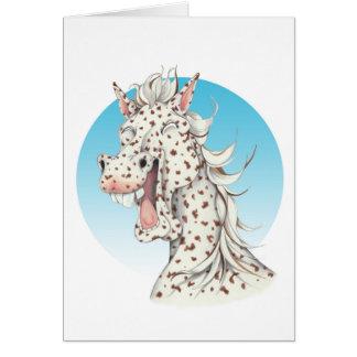 """Cartão Companheiro do cavalo do Appaloosa do """"dominó"""" de"""