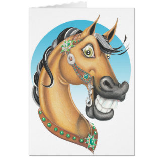 """Cartão """"Companheiro do cavalo do Showstopper ocidental"""""""