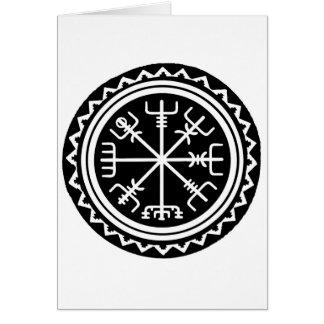 Cartão Compasso de Viking Vegvisir