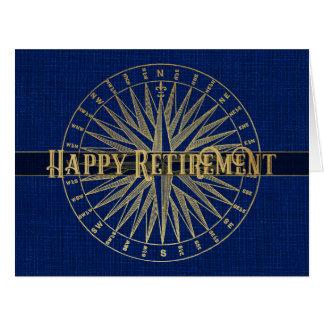 Cartão Compasso feliz do ouro da aposentadoria