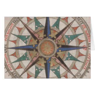 Cartão Compasso náutico histórico (1543)